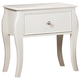 Coaster Dominique Single Drawer Youth Nightstand in White 400562