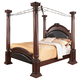 Coaster Grand Prado Cal King Poster Bed in Brown Cherry 202201KW