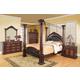 Coaster Grand Prado Poster Bedroom Set in Brown Cherry 202201