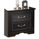 Cavallino Two Drawer Nightstand in Black B291-92