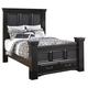 Cavallino Vintage Queen Mansion Storage Bed in Black