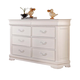 Acme Classique Six Drawer Dresser in White 30131