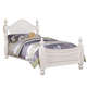 Acme Classique Traditional Twin Youth Bed in White 30125T