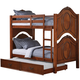 Acme Classique Traditional Twin/Twin Bunk Bed with Trundle in Cherry 37005_KIT