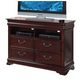 Acme Gwyneth Traditional Four Drawer Home Entertainment TV Console in Cherry 21867A