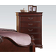 Acme Gwyneth Traditional Five Drawer Chest in Cherry 21866A