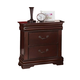 Acme Gwyneth Traditional Two Drawer Nightstand in Cherry 21863A