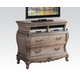 Acme Chantelle Old World Style TV Console in Antique Platinum 20547 PROMO