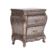 Acme Chantelle Old World Style Nightstand in Antique Platinum 20543 PROMO