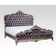 Acme Chantelle Queen Bed with Button Tufted Panels in Antique Platinum 20540Q