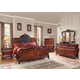 Acme Dorothea Queen Bedroom Set with Button Tufted Headboard in Cherry