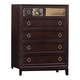 Coaster Williams 5 Drawer Chest in Merlot 203095