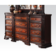 Acme Le Havre Traditional Twelve Drawer Dresser in Two-Tone Brown 22405