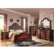 Acme Le Havre Panel Bedroom Set with Button Tufted Headboard in Two-Tone Brown