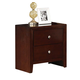 ACME Ilana Contemporary Two Drawer Nightstand in Brown Cherry 20403