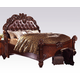 Acme Vendome California King Panel Bed with Button Tufted Headboard in Cherry 21994CK PROMO