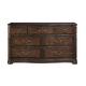 Bernhardt Normandie Manor Dresser with Antique Drawer Pulls in Caffe Brown 317-042