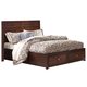 New Classic Kensington Queen Low Profile Bed with Storage Footboard in Burnished Cherry 00-060-3Q