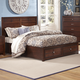 New Classic Kensington California King Low Profile Bed with Storage Footboard in Burnished Cherry 00-060-2KW