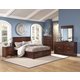 New Classic Kensington 4-pc Panel Storage Bedroom Set in Burnished Cherry