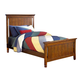New Classic Sawmill Twin Panel Bed in Cocoa 05-054-5T