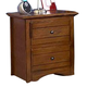New Classic Sawmill 2 Drawer Nightstand in Cocoa 05-054-042