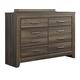 Ashley Juararo Six Drawer Dresser in Dark Brown B251-21