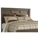 Juararo Contemporary King Panel Headboard Bed in Dark Brown B251-58