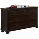 New Classic Canyon Ridge 7 Drawer Dresser in Chestnut 05-230-052