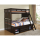 New Classic Canyon Ridge Twin Bunk Bed with Storage in Chestnut 05-230-598T