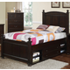 New Classic Canyon Ridge Twin Panel Bed with Storage in Chestnut 05-230-510T