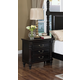 New Classic Martinique 3 Drawer Nightstand in Rubbed Black 00-222-040