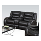 Acme Dacey Bonded Leather Loveseat  with Console and Motion in Espresso 50743