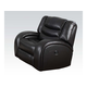 Acme Dacey Bonded Leather Glider Recliner in Espresso 50742