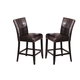 Acme Camelot Button Tufted Counter Height Chair (Set of 2) in Espresso 07055