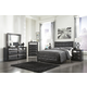 Ashley Alamadyre Upholstered Panel Bedroom Set in Black