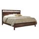 Aspenhome Genesis Geometric Queen Panel Bed in Kona Brown