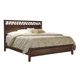 Aspenhome Genesis Geometric California King Panel Bed in Kona Brown