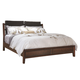 Aspenhome Genesis Queen Angled Bonded Leather Sleigh Bed in Kona Brown