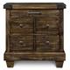 Magnussen Furniture Brenley 3-Drawer Nightstand in Natural Umber B2524-01