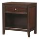 Aspenhome Genesis 1-Drawer Nightstand in Kona Brown I10-450 I10-451