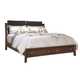 Aspenhome Genesis Queen Angled Bonded Leather Storage Sleigh Bed in Kona Brown