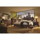 Aspenhome Genesis Geometric Panel Bedroom Set in Kona Brown