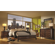 Aspenhome Genesis Geometric Storage Panel Bedroom Set in Kona Brown