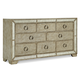 Pulaski Farrah 8 Drawer Dresser in Metallic 395100