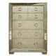 Pulaski Farrah 5 Drawer Chest with Mirror Panels in Metallic 395124