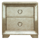 Pulaski Farrah 2 Drawer Nightstand with Cedar Lining in Metallic 395140