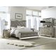 Pulaski Farrah 4-Piece Panel Bedroom Set in Metallic