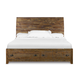 Magnussen Furniture River Road Queen Island Bed with Storage Footboard in Distressed Natural B2375-51