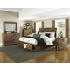 Magnussen Furniture River Road Island Bedroom Set with Storage Footboard in Distressed Natural